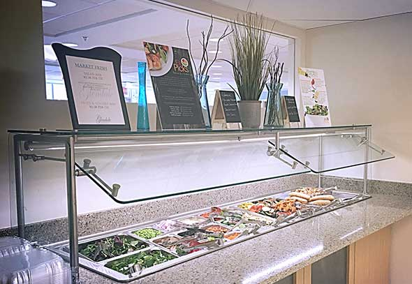 Photo of new food station.