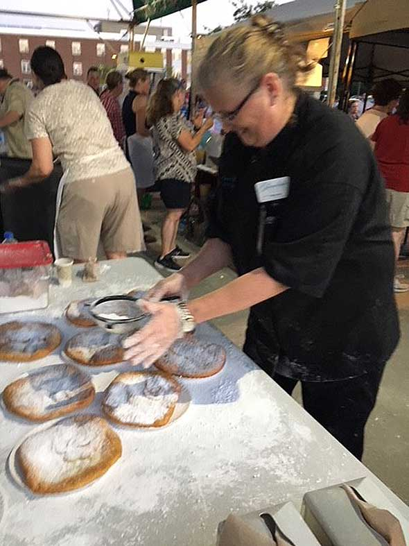 Photo of fried dough preparation.