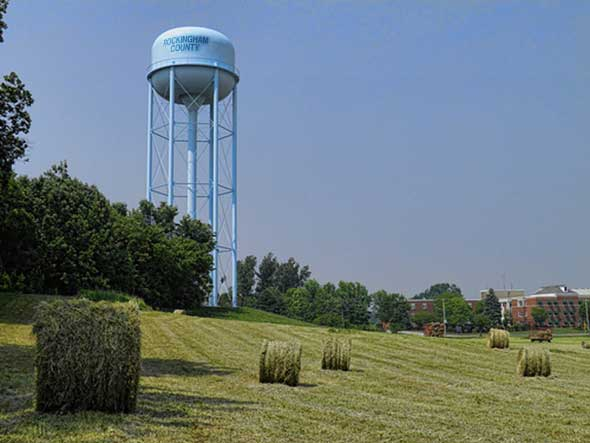 Photo of Rockingham's water tower.