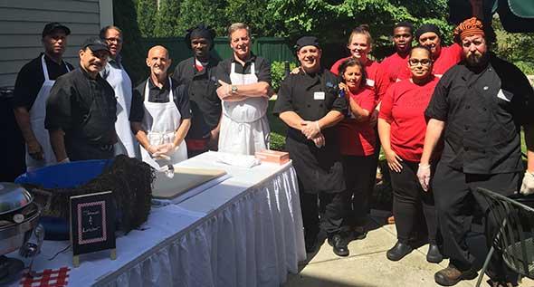 Photo of senior living food service team.