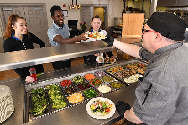 Dining Service Serving Students